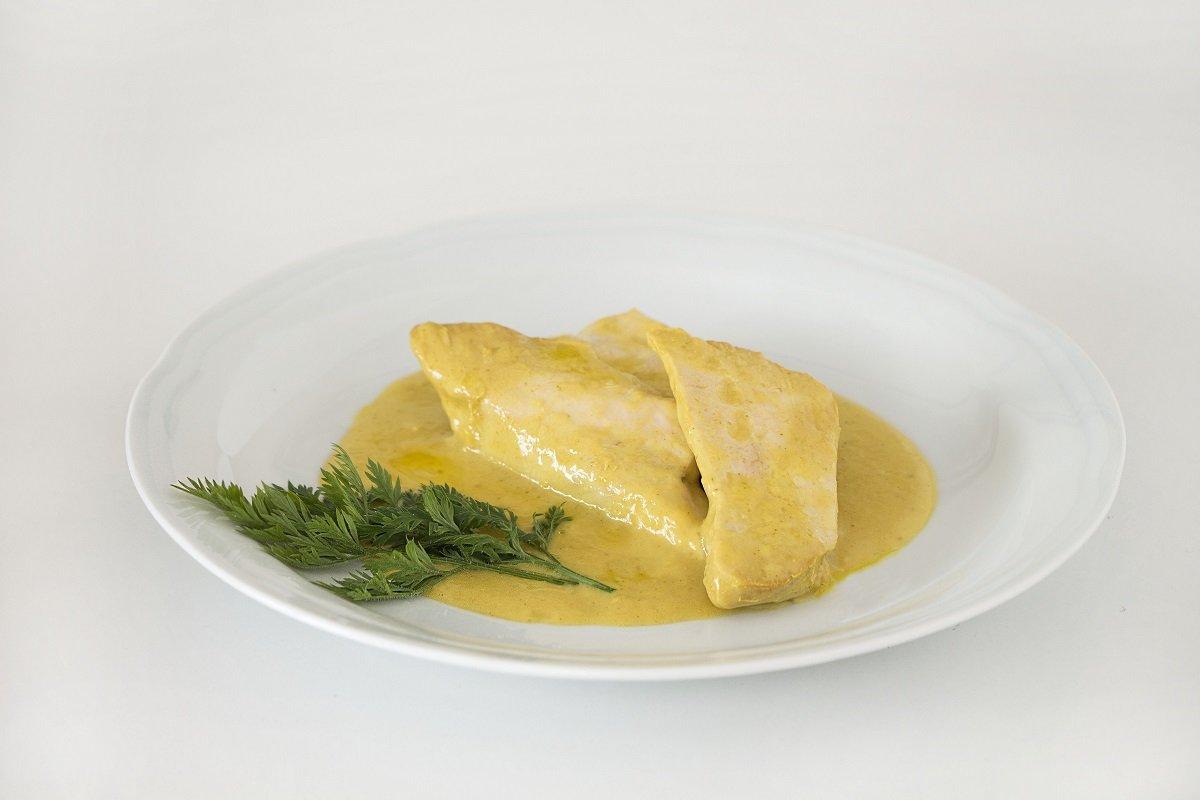 Pechuga de pollo con miel y mostaza