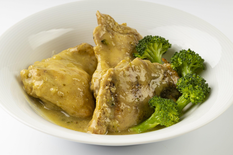 Contramuslo de pollo gourmet al azafrán